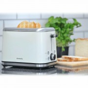 Brabantia Deluxe Wide Slot 2 Slice Toaster Bagel Stainless Steel In Cream
