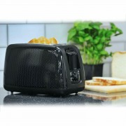 Brabantia Modern Wide Slot 2 Slice Toaster Bagel Variable Browning In Black