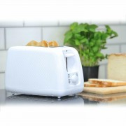 Brabantia Modern Wide Slot 2 Slice Toaster Bagel Variable Browning In White