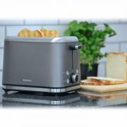 Brabantia Deluxe Wide Slot 2 Slice Toaster Bagel Stainless Steel In Platinum