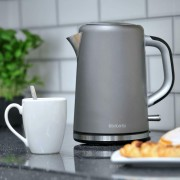 Brabantia Cordless Jug Kettle 1.7L 3kW Stainless Steel In Platinum