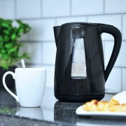 Brabantia Modern Cordless Electric Jug Kettle 1.7 Litre 3kW In Black