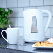 Brabantia Modern Cordless Electric Jug Kettle 1.7 Litre 3kW In White