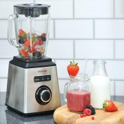 Brabantia Table Blender Smoothie Maker 1.5L Glass Jug 1000W Brushed S/Steel
