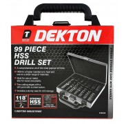 Dekton 99 Piece HSS Drill Bit Set With Case DT80230
