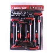 Dekton T-Handle Hex Key Screwdriver Set DT65532