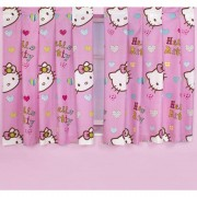 "Official Hello Kitty Folk 54"" Curtains - Wholesale Clearance Stock"