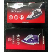 Hoover 2500W Ironjet Steam Irons In Black & Purple TIM2500CA TID2500C - New Stock