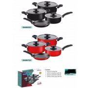 Casserole, Saucepan & Frying Pan Sets - 7 Piece - Tramontina Brand