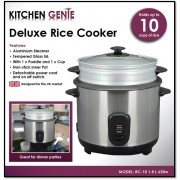 Kitchen Genie Deluxe Rice Cooker 10 Cup - New Stock