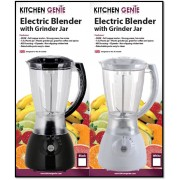 Kitchen Genie Electric Blender With Grinder Jar - New Stock