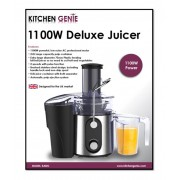 Kitchen Genie Power Juicer 1100W  2 Litre Pulp Container - New Stock