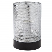 Lighting Collection 700248 Table Lamp Light Chrome Mesh Shade Black