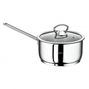 O.M.S. Milk Pan Saucepan With Glass Lid 18/10 Stainless Steel Induction 14 16 cm