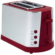 prestige 2 slice toaster in chrome and red