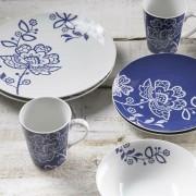 Price & Kensington Midnight Blossom 16 Piece Porcelain Dinner Set