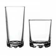 Ravenhead 12 Piece Hobnobs Drinking Glass Tumbler Set