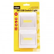 Rolson 61542 3W COB Switch Lights 2 Pack - New Clearance Stock