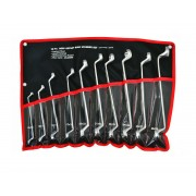 Tools XP 10 Piece Metric Deep Offset Ring Spanner Tool Roll Carbon Steel