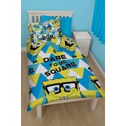 Official Spongebob Squarepants Happy Single Duvet Cover - Clearance Stock