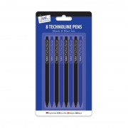 Tallon 1024 Technoline Pens 8 Pack - New Wholesale Stationary Stock