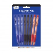 Tallon 5634 Ballpoint Pens 8 Pack - New Wholesale Stationary Stock