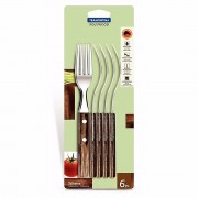 Tramontina 6 Piece Fork Set Polywood 21102/690 - New