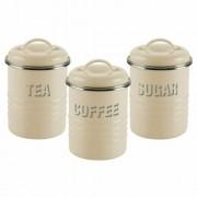Typhoon 3 Piece Kitchen Storage Set Metal Cream