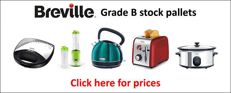 Branded Housewares - Breville Grade B stock pallets