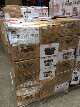 Morphy Richards slow cooker returns pallets