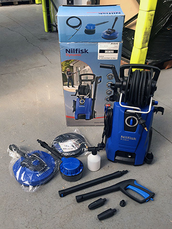 Nilfisk D130 4-5 pressure washer returns stock
