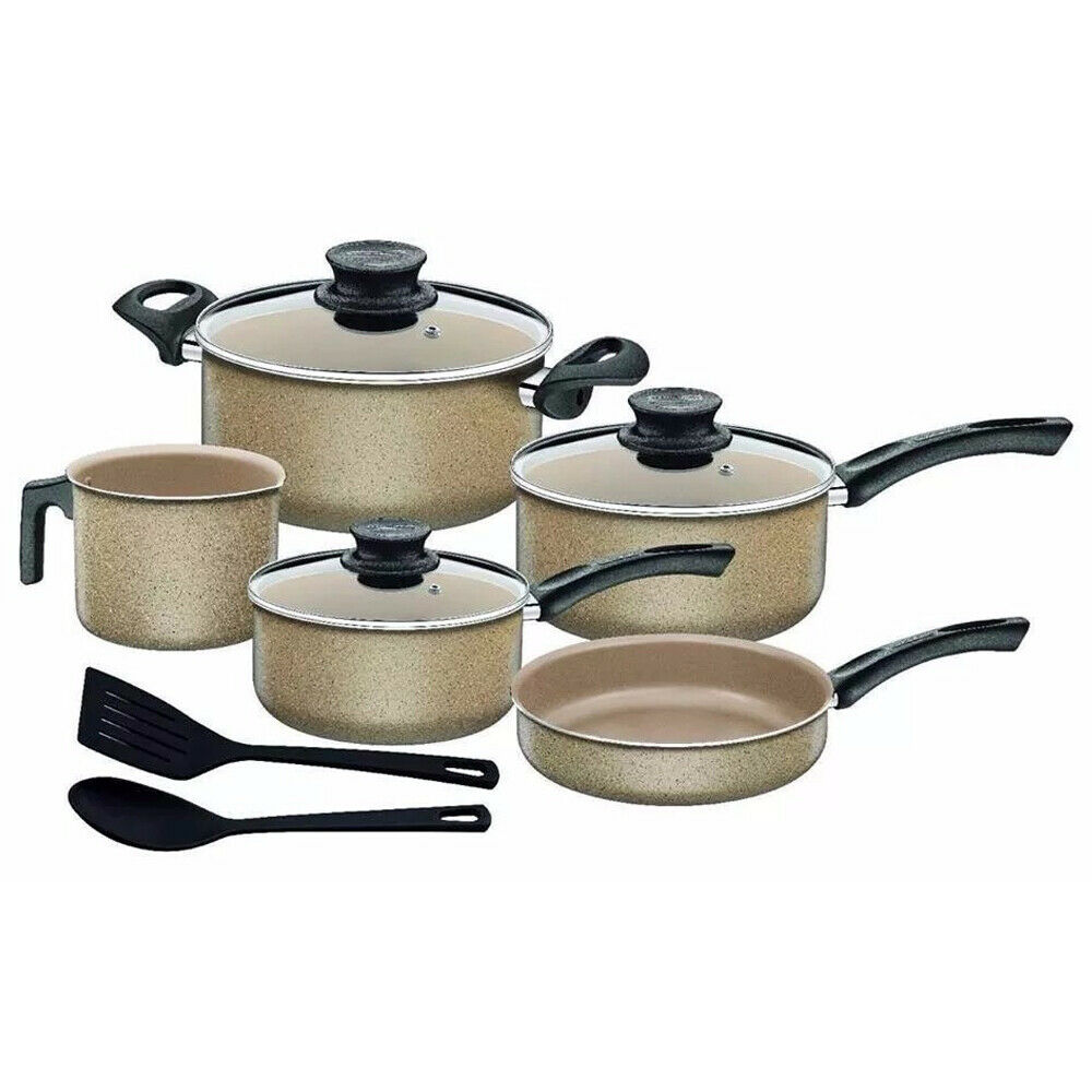 10 Piece Cookware Saucepan Set