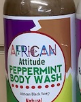Peppermint Body Wash with African Black Soap